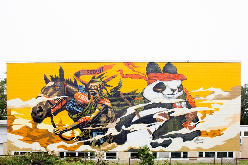 Dragon 76 POW WOW Mural