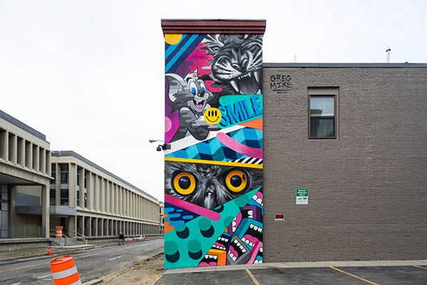 Greg Mike POW WOW Mural