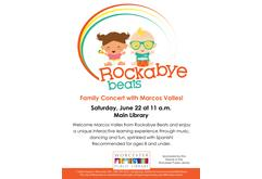 Rockabye Beats Family Concert with Marcos Valles