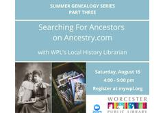 Searching for Ancestors on Ancestry.com