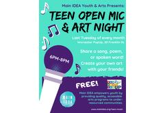 Teen Open Mic & Art Night - March