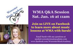 WMA Q&A Session on Facebook Live!