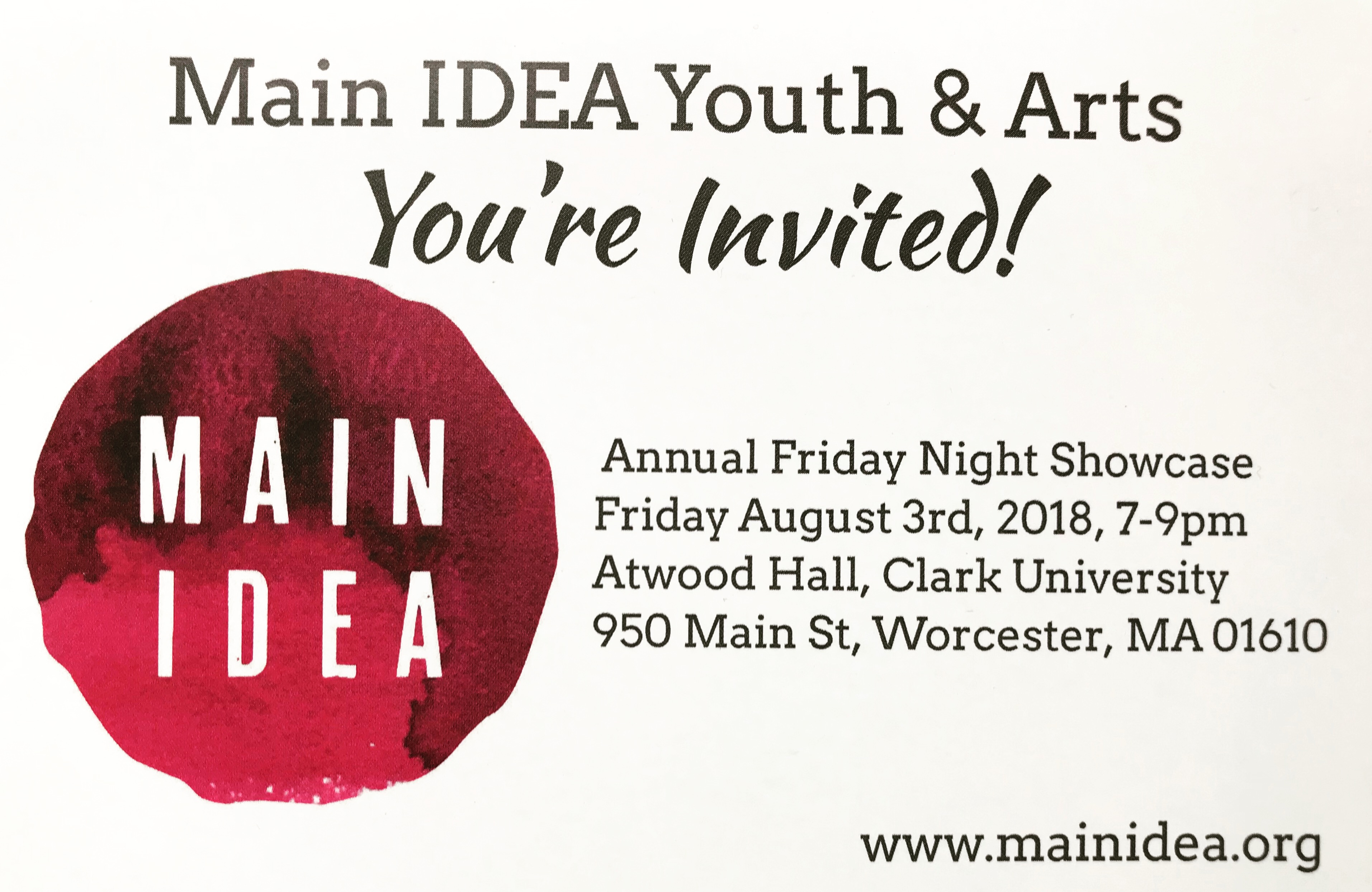 Main IDEA 2018 Friday Night Showcase   Local Event   Discover