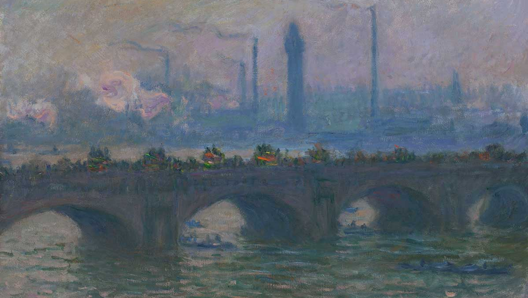 Monet's Waterloo Bridge at the Worcester Art Museum