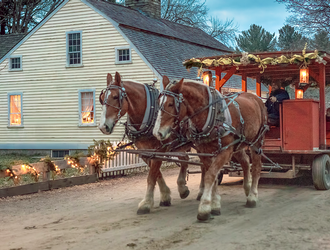 Celebrating the Season in Sturbridge, Massachusetts